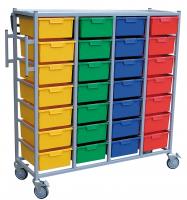 Karricart Clothing Distribution Cart 28 Tray H 166cm x W 139.5cm x D 54cm
