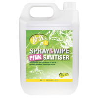 BRiTEX Spray & Wipe Pink Sanitiser 2x5L