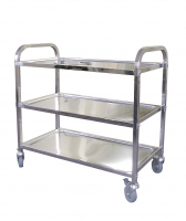 Stainless Steel Service Trolley 3 Tier 825x405x710mm