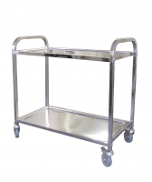 Stainless Steel Service Trolleys 2 Tier 825 x 405x810mm