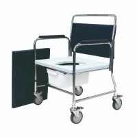 Extra Wide Heavy Duty Mobile Commode