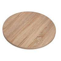 Lamidur 600 Round Sawcut Oak Finish Table