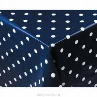 PVC Tablecloth Polka Dot Navy 890x890mm