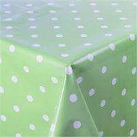 Wipe Clean Pale Green Polka Dot PVC Table