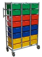 Karricart Clothing Distribution Cart 16 tray H 166cm x W 71cm x D 54cm