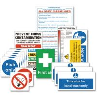 Senior Hygiene Catering Pack Signs (Pack 1