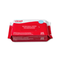 Clinell Sporicidal Wipes 25 Pack