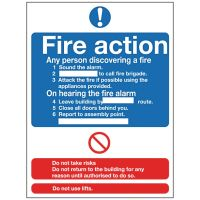 Fire Action - 300x200mm Rigid