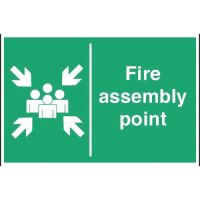 Fire Assembly Point - 400x600mm (Rigid)