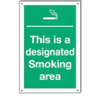 Designated Smoking Area 300x200mm rigid