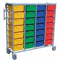 Karri Cart 28 Tray Clothing Distribution Cart 28 Tray H 166cm x W 139.5cm x D 54cm