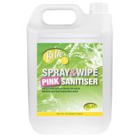 BRiTEX Spray & Wipe Pink Sanitiser 2x5L