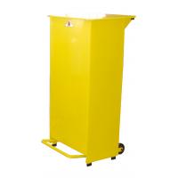 Sackholder Metal Body Yellow Lid 80 Litre