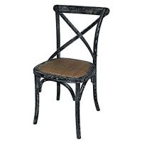 Bolero Wooden Dining Chair with Cross Back