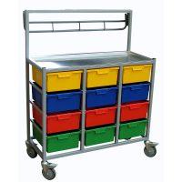 Karri Cart 12 Tray Clothing Distribution Cart H 135cm x W 105.5cm x D 54cm