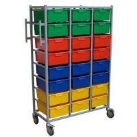 Karri Cart 16 Tray Clothing Distribution Cart H 166cm x W 71cm x D 54cm