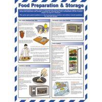 Food Preparation & Storage Sign