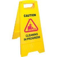 Wet Floor Sign Cleaning In Progress