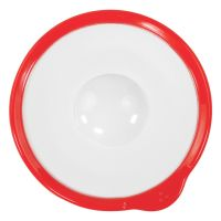 Omni White Saucer with Red Rim 140x130x18mm