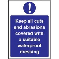 Cuts & Abrasions Covered Sign