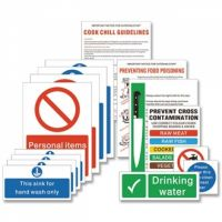 Food Preparation Sign Pack (15 Notices) (S