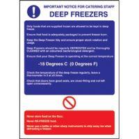 Deep Freezer Guidelines Sign - 300x200mm