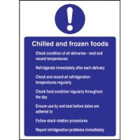 Chilled & Frozen Foods Sign - 300x200mm