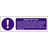 Deep Fat Fryer Safety Sign - 100 x300mm