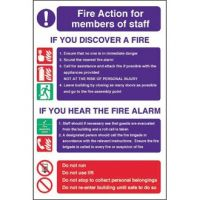 Fire Action for Staff Sign