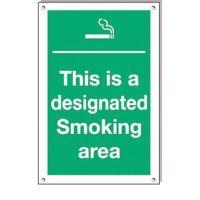 Designated Smoking Area 300x200mm rigid